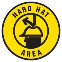Anti-Slip Floor Markers - Hard Hat Area