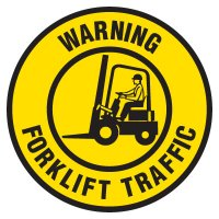 Anti-Slip Floor Markers - Warning Forklift Traffic
