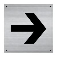 Arrow - Engraved Graphic Symbol Signs