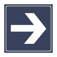 Arrow - Engraved Graphic Symbol Signs