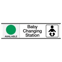 Baby Changing Station Available/In Use - Engraved Restroom Sliders