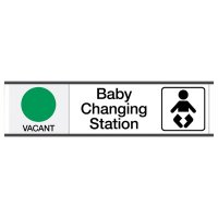 Baby Changing Station Vacant/Occupied - Engraved Restroom Sliders