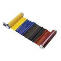 BBP®85 Series Printer Ribbon: R10000, Black/Blue/Red/Yellow, 6.25 in W x 200 ft L, 15 in Panels