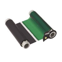 BBP®85 Series Printer Ribbon: R10000, Black/Green, 6.25 in W x 200 ft L, 8 in Panels