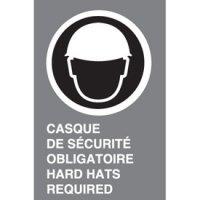 Bilingual CSA Signs - Casque De Securite Obligatoire Hard Hat Required