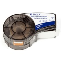 Brady M21-1000-427 BMP21 PLUS Label Cartridge - Black on White/Translucent