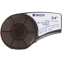 Brady M21-750-595-PL BMP21 Plus Label Cartridge - White on Purple