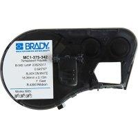 Brady MC1-375-342 BMP51/BMP41 Label Cartridge - Black on White