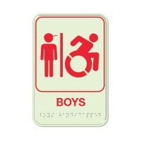 Boys (Dynamic Accessibility) - Glo Brite Braille Signs