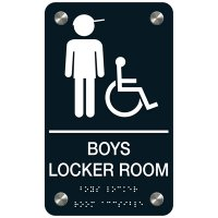 Boys' Locker Room (Accessibility) - Premium ADA Facility Signs