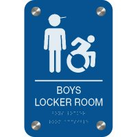 Boy's Locker Room - Premium ADA Facility Signs