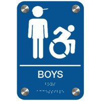 Boys with Graphic (Dynamic Accessibility) - Premium ADA Restroom Signs