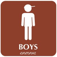 Boys with Graphic - Optima ADA Restroom Signs