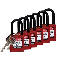 """Brady® Nylon Shackle 1.5"""" Keyed Differently Safety Locks"""