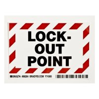 Brady Self Sticking Polyester Lock-Out Point Identification Labels (86204) - 5PK