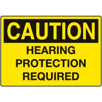 Ear Protection Signs - Caution Hearing Protection Required