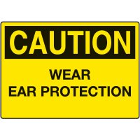 Ear Protection Signs - Caution Wear Ear Protection