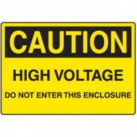 Electrical Hazard Signs - Caution High Voltage