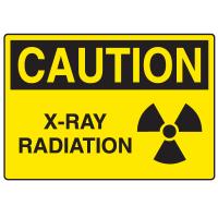 OSHA Caution Signs - X-Ray Radiation