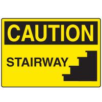 OSHA Caution Signs - Stairway