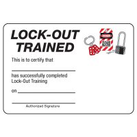 Certification Photo Wallet Cards - Lock-Out Trained