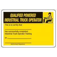 Certification Photo Wallet Cards - Qualified Truck Operator
