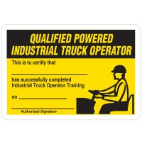 Certification Wallet Cards - Qualified Truck Operator