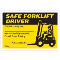 Certification Wallet Cards - Safe Forklift Driver