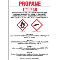 Chemical GHS Labels - Propane