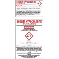 Chemical GHS Labels - Sodium Hypochlorite