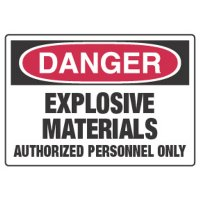 Chemical Hazard Danger Sign - Explosive Materials
