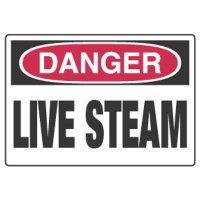 Chemical Hazard Danger Sign - Live Steam