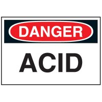 Chemical Labels - Acid