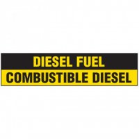 Chemical Labels - Diesel Fuel / Combustible Diesel