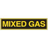 Chemical Labels - Mixed Gas