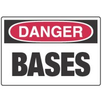 Chemical Signs - Danger Bases