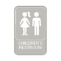 Children's Restroom - Graphic ADA Braille Tactile Signs