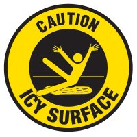 Anti-Slip Floor Markers - Caution Icy Surface