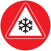 Anti-Slip Floor Markers - Snowflake Graphic