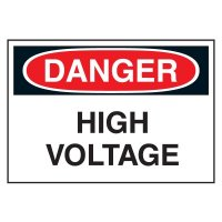 Cold Adhesion Safety Labels - Danger High Voltage