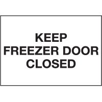 Cold Adhesion Safety Labels - Keep Freezer Door Closed