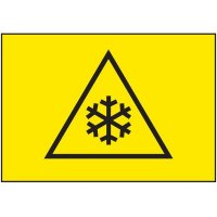 Cold Adhesion Safety Labels - Low Temperature Graphic