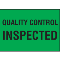 Quality Control Inspected Color Coded QC Labels