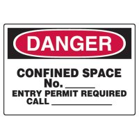 Write-On Confined Space Danger Sign | Seton Canada