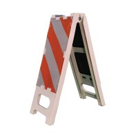 "Cortina N-Cade Striped Traffic Barrier, 36""H"