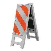 "Cortina N-Cade Striped Traffic Barrier, 36""H"