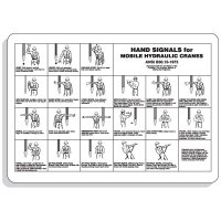 Crane Safety Signs - Hand Signals For Mobile Hydraulic Cranes