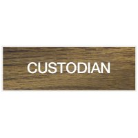 Custodian - Engraved Standard Wording Signs
