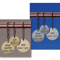 Custom Engraved Brass, Aluminum, & Stainless Steel Valve Tags