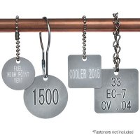 Custom Engraved Aluminum Valve Tags